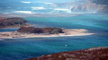 Gualala River lagoon & barrier beach, October, 2005