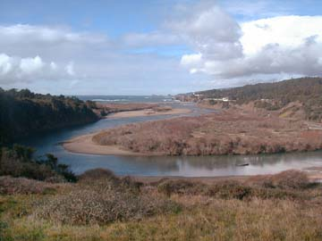 Gualala River estuary, January, 2002